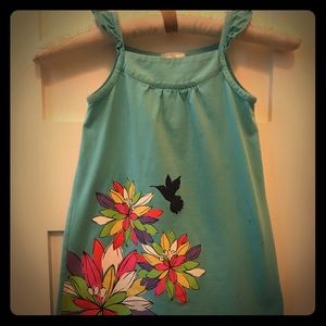 Hanna Andersson turquoise tank dress kids